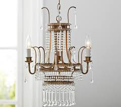 Candle Chandelier Pottery Barn Hayleigh Gold Chandelier Pottery Barn