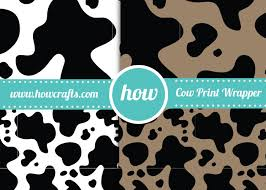 cow print wrapping paper howcrafts cow print wrapping paper in a3 pdf howcrafts