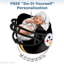 pittsburgh steelers personalized babys ornament