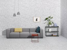 canapé droit design canapé droit mags 3 places l 266 cm tissu surface gris clair hay