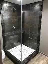 Industrial Shower Door San Francisco Pebble Stone Shower Bathroom Industrial With Glass