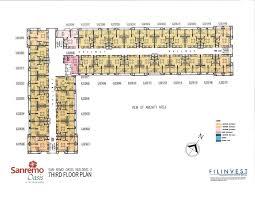 San Remo Floor Plans San Remo Oasis Floor Plan U2013 Tower 2 U2013 Cebu Real Estate Condo