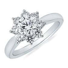 snowflake engagement ring diamond flower cluster ring in 14k white gold 1 1 3 ct tw