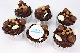 personalised cupcakes personalised malteser cupcakes box of 16 boxed