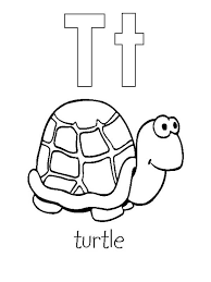 letter turtle coloring bulk color