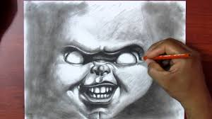 learn to draw exercise 2 charcoal drawing chucky real