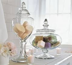 clear glass canisters for kitchen glass kitchen canisters chic simple natural fall look not