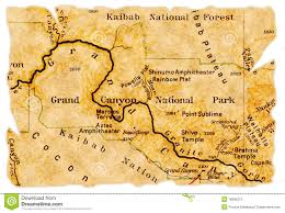 Map Of Grand Canyon Grand Canyon Old Map Stock Photos Image 16696273