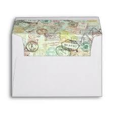 travel printed mailing envelopes zazzle