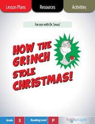how the grinch stole lesson plans activities package