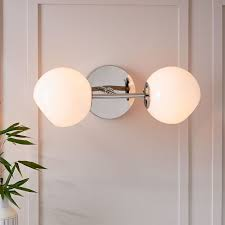 Nickel Sconce Staggered Glass Sconce Double West Elm