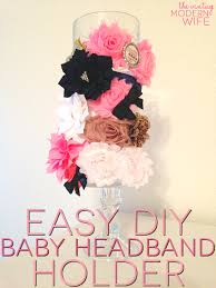 how to make a headband holder easy diy baby headband holder the vintage modern