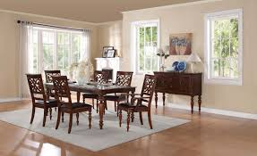 Monte Carlo Dining Room Set by Homelegance Creswell Leg Table Dining Set Rich Cherry 5056 78