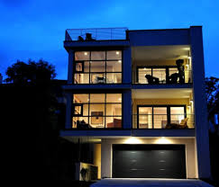 modern german style house plans with glass wall and perfect