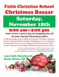 faith christian christmas bazaar rocky mount nc his radio