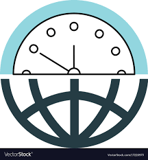half globe plus half clock meaning management