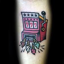 30 slot machine tattoo designs for men jackpot ink ideas