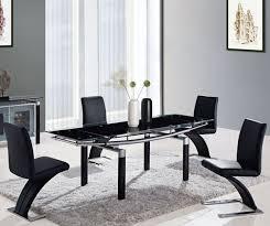Black Dining Room Set Best 25 Black Glass Dining Table Ideas On Pinterest Lighting