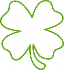 green lucky four leaf clover u2014 stock vector clipartguy 17454437