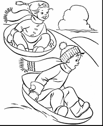 Excellent Kids Winter Coloring Pages Printable With Winter Winter Coloring Pages Free