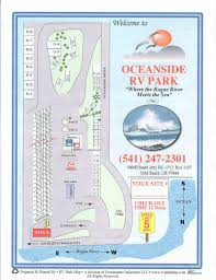 Map Of Southern Oregon Coast by Oceanside Rv Park