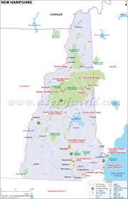 Labeled Map Of North America by New Hampshire Map Map Of New Hampshire Map Of Nh