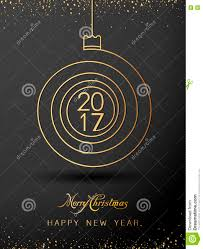 merry christmas happy new year gold 2017 spiral shape ideal for