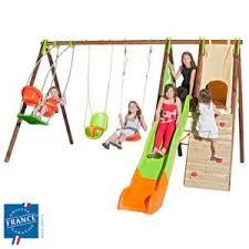 siège bébé pour balançoire portique bois métal 2 30 m nacelle cabane escalade siège bébé