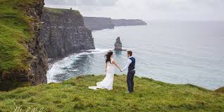 wedding backdrop ireland destination wedding ireland cliffs of moher doolin clare