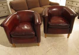 Tub Leather Chairs A Pair Of Swedish Leather Chairs In Seating