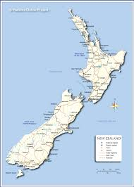 zealand on map political map of zealand nations project