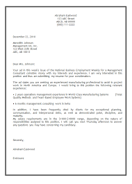 example of cover letter for a resume resume example and free