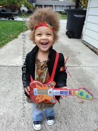 homemade jimi hendrix costume for a boy halloween costume