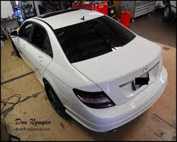 white lexus blacked out don nguyen vinyl roof wrapping tail light tinting black out