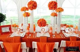 stunning orange and white wedding decorations wedding orange and