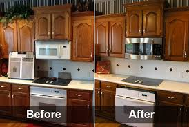 alluring staining oak kitchen cabinets and cabinet charming