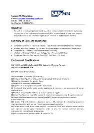 sap mm resume sample for freshers ppt ee resume 9 9mb sap fico resume sample sample fresher resume format resume samples
