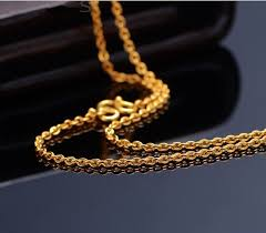 solid gold chain necklace images Pure solid 24k yellow gold chain necklace smooth o chain necklace jpg