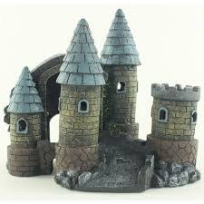 castle tower aquarium fish tank ornament at discount leisure products