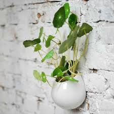 Hanging Ceramic Planter by 4 Super White Ceramic Wall Planters Indoor Hanging Ceramic Pot
