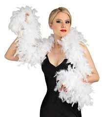 1920s white fashion feather boa 20s halloween costume accessory 7106
