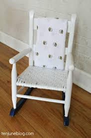 Rocking Chairs Like Cracker Barrel by Ten June Multi Colored Spray Painted Rocking Chair A Nursery Diy