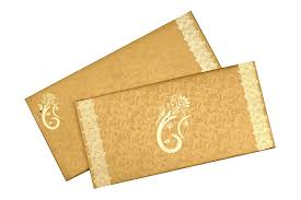 wedding invitation in vibrant yellow golden card