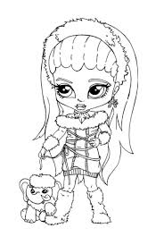 baby monster high coloring pages free printable baby doll coloring