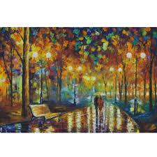 rainy walk fluorescent paper puzzle 1000 pieces noctilucent jigsaw