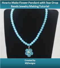 drop beads necklace images How to make flower pendant using tear drop beads 6 steps jpg