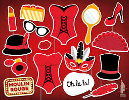burlesque party photo booth props printable cabaret theme