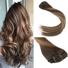 balayage hair extensions balayage clip in hair extensions 9pcs 140g chocolate