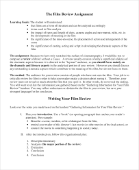 sample movie review 7 documents in word pdf