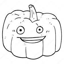 pumpkin cartoon pic black and white cartoon halloween pumpkin u2014 stock vector